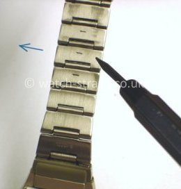 Casio Watch Straps Metal Bracelet Link Removal: Link pin removal