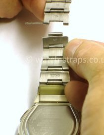 Casio Watch Straps Metal Bracelet Link Removal: Separating the links