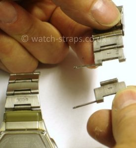 Casio Watch Straps Metal Bracelet Link Removal:Separating the link from the bracelet