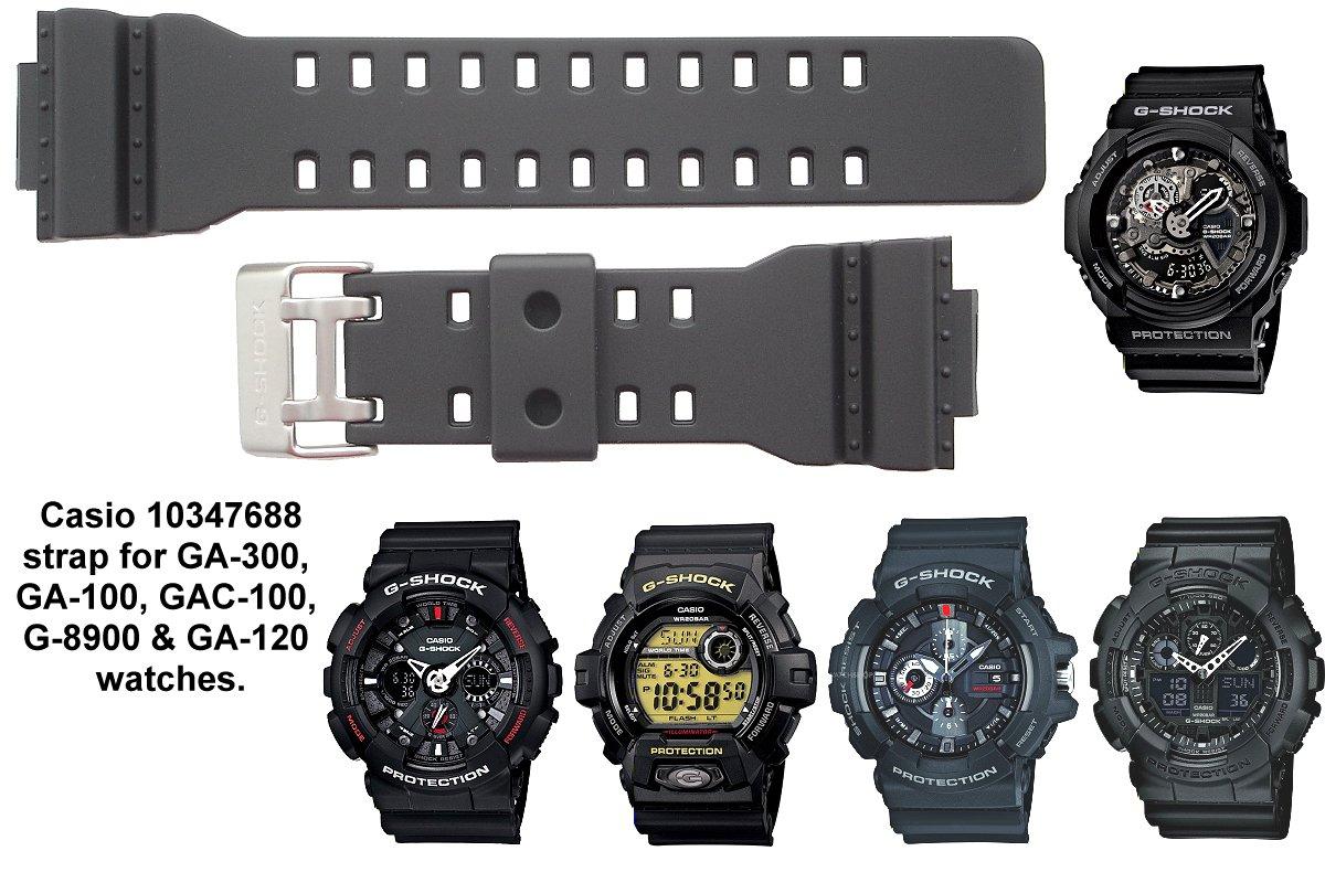Casio Watch Straps Genuine Replacement For Ga G Shock Gac 110 1adr Click